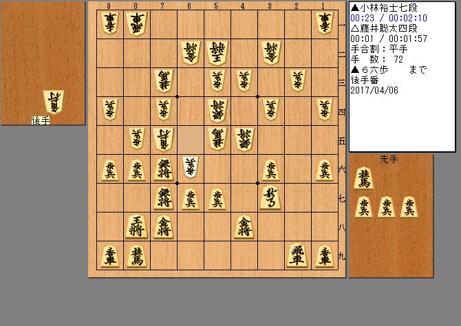 藤井聡太四段vs小林裕士七段