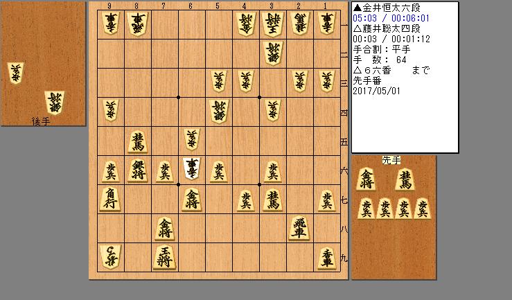 藤井四段vs金井六段