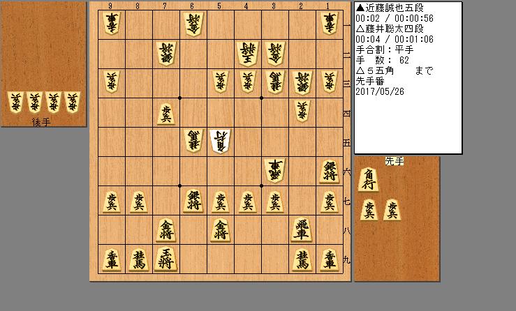 藤井四段vs近藤五段