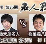 第75期名人戦 第6局 佐藤天彦名人vs稲葉陽八段の日程・中継情報
