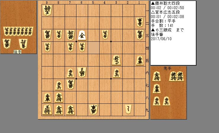 藤井四段vs宮本五段