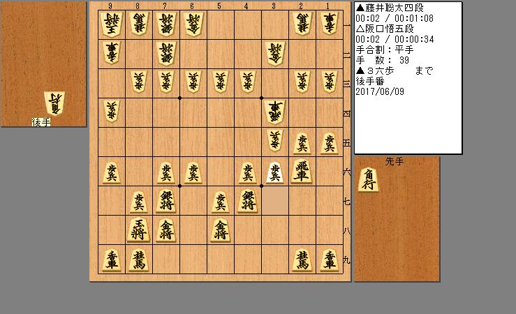 藤井四段vs坂口五段