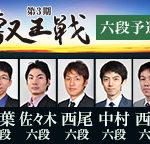 第3期叡王戦 六段予選の日程と組み合わせ