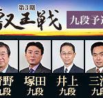 第3期叡王戦 九段予選の組み合わせと日程