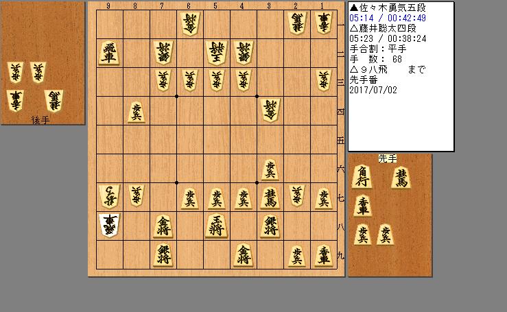 藤井四段vs佐々木五段