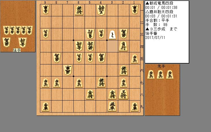 都成四段vs藤井四段