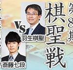 棋聖戦第4局 羽生善治棋聖vs斎藤慎太郎七段の日程と対局中継は?
