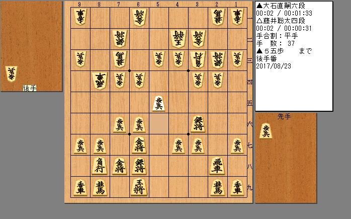 藤井四段vs大石六段