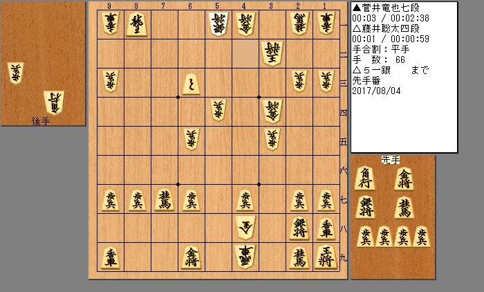 藤井四段vs菅井七段