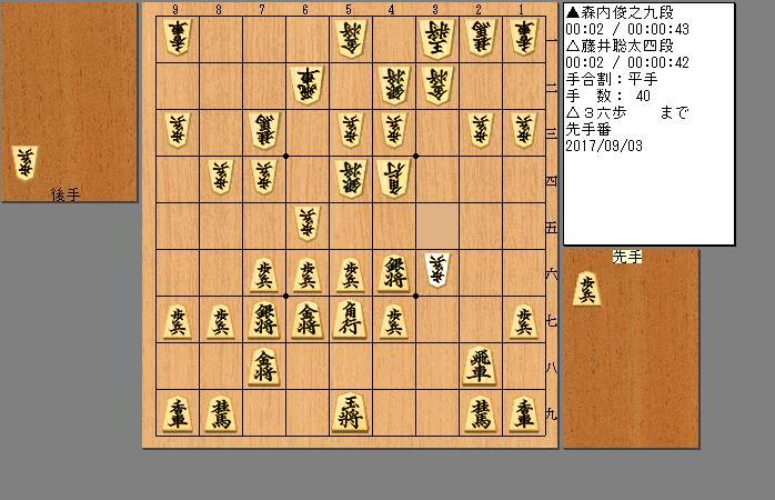 藤井四段vs森内九段