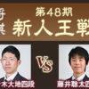 第48期新人王戦の藤井聡太四段と佐々木大地四段の日程と中継情報