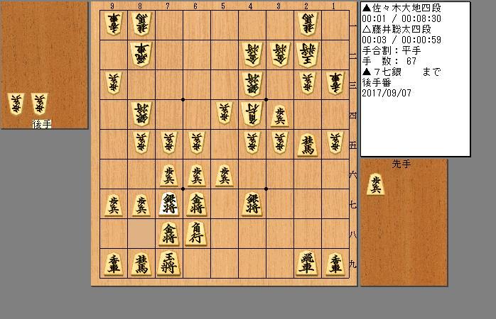 藤井聡太四段vs佐々木大地四段