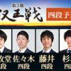 第3期叡王戦四段予選 藤井聡太四段vs佐々木大地四段の棋譜速報と結果