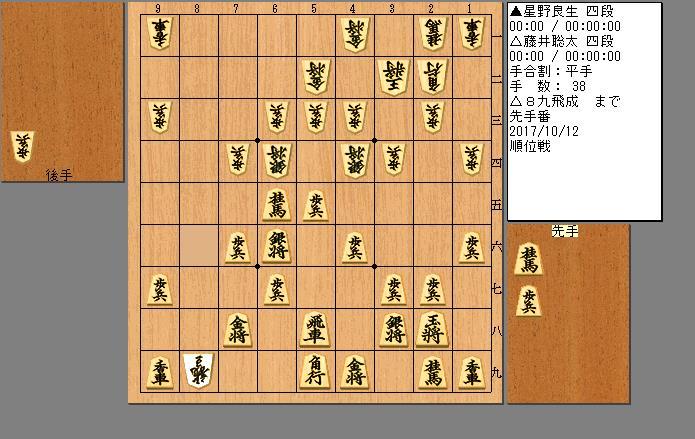 藤井四段vs星野四段