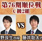 順位戦C級2組 藤井聡太四段と星野良生四段の対局中継と日程