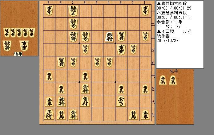 藤井四段vs藤倉五段
