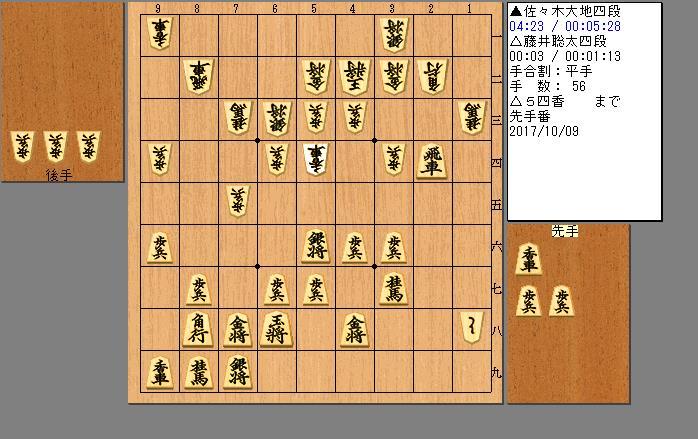 藤井四段vs佐々木四段