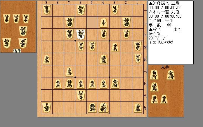 近藤五段vs木村九段