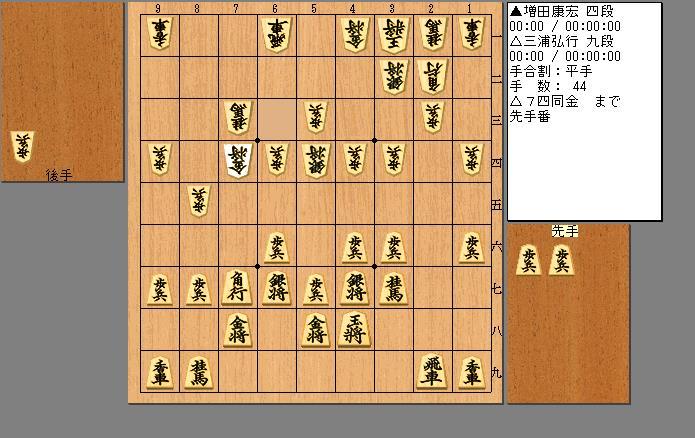 三浦九段vs増田四段