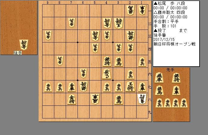 藤井四段vs松尾八段