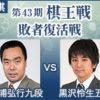 棋王戦敗者復活戦 三浦弘行九段vs黒沢怜生五段の日程と中継
