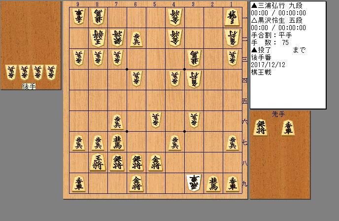 三浦九段vs黒沢五段