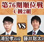 第76期順位戦C級2組 藤井聡太四段vs梶浦宏孝四段の日程と中継情報