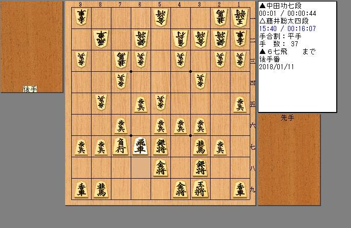 藤井四段vs中田七段
