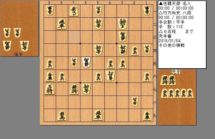 佐藤名人vs行方八段