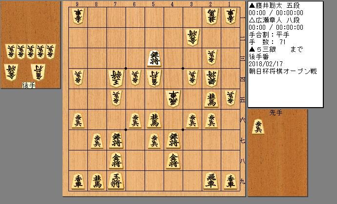 藤井五段vs広瀬八段