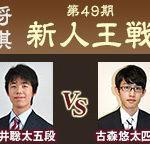第49期新人王戦 藤井聡太五段vs古森悠太四段の棋譜と結果!角交換四間飛車