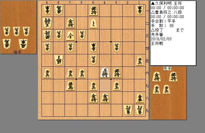 久保王将vs豊島八段