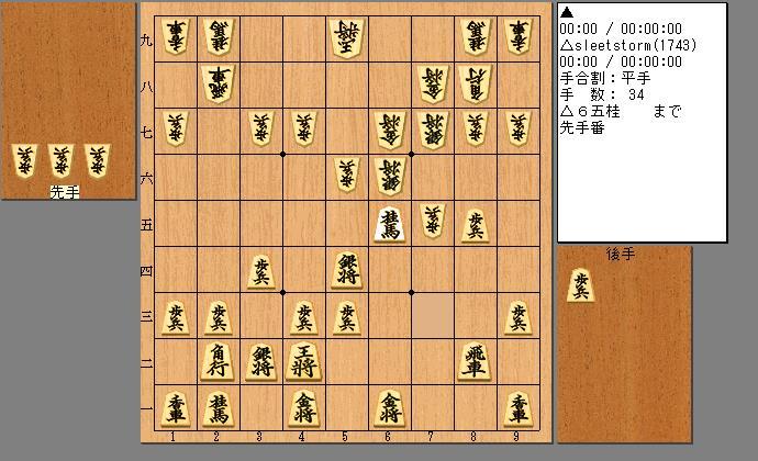居角左美濃急戦vs矢倉