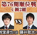 順位戦C級2組 藤井聡太六段vs三枚堂達也六段の棋譜と結果!横歩取り青野流