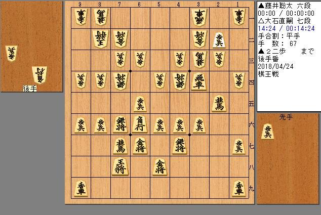 藤井六段vs大石七段