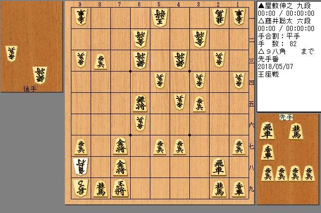 藤井六段vs屋敷九段