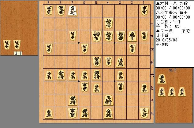 羽生竜王vs木村九段