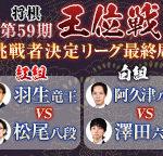 第59期王位戦挑戦者決定リーグ最終局の中継と日程