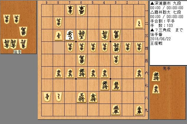 藤井七段vs深浦九段