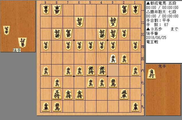 藤井聡太七段vs都成竜馬五段