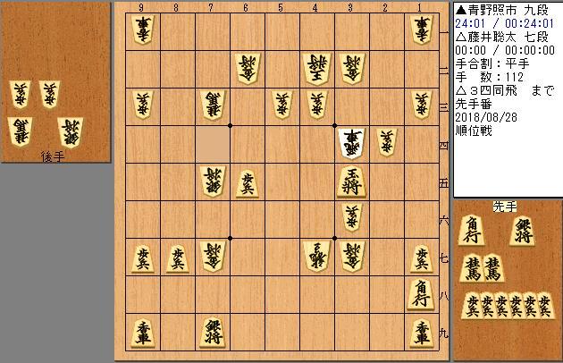 青野九段vs藤井七段