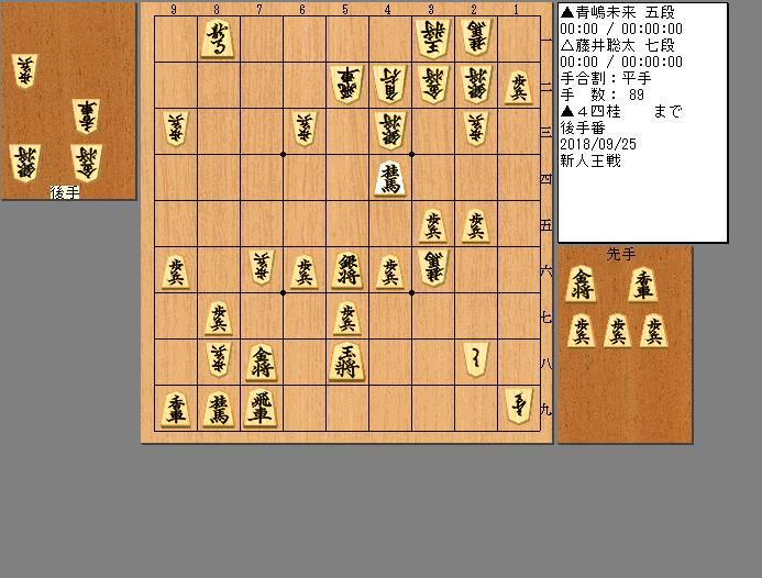 藤井七段vs青嶋五段