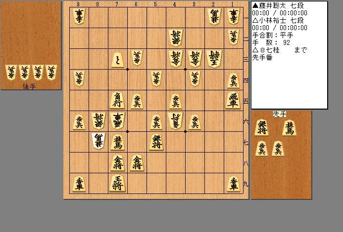 藤井七段vs小林七段
