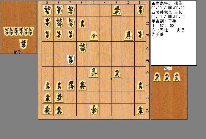 菅井王位vs豊島棋聖