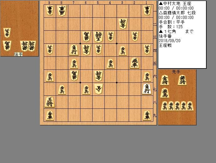 中村王座vs斎藤七段