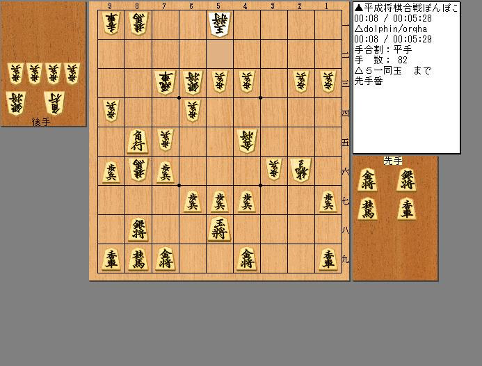 平成将棋合戦ぽんぽこ vs dolphin/orqha