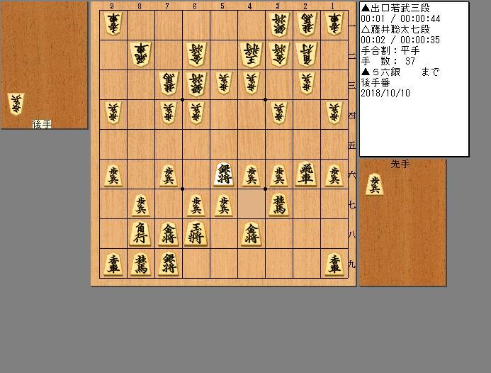 藤井七段vs出口三段