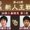 新人王戦決勝第1局 出口若武三段vs藤井聡太七段の棋譜と結果!相掛かり