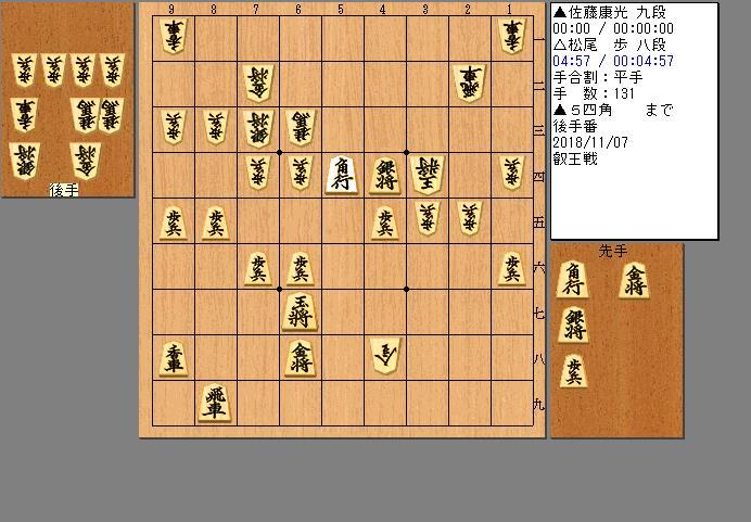 佐藤九段vs松尾八段
