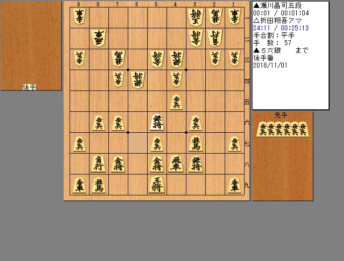 瀬川五段vsアゲアゲ